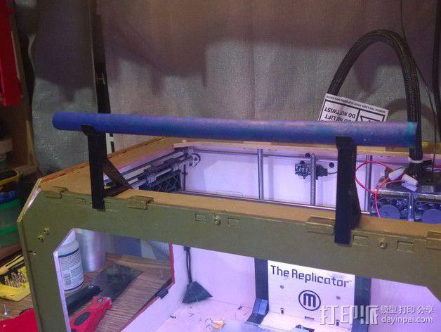小型线轴卷支架 3D模型  图2