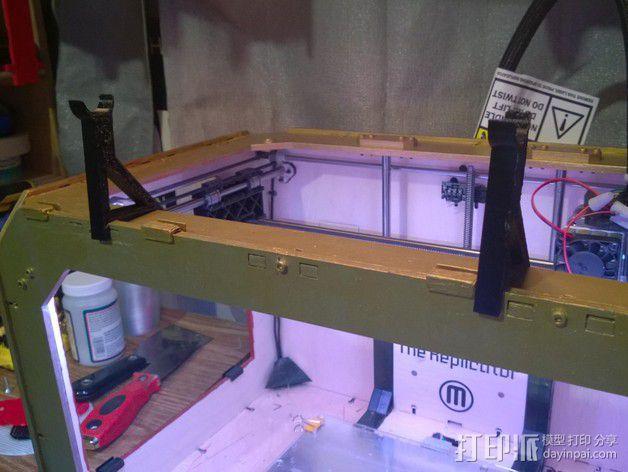 小型线轴卷支架 3D模型  图1