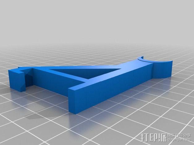 小型线轴卷支架 3D模型  图4