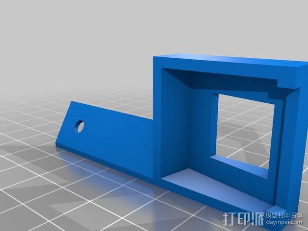 树莓派支撑外壳 3D模型  图2