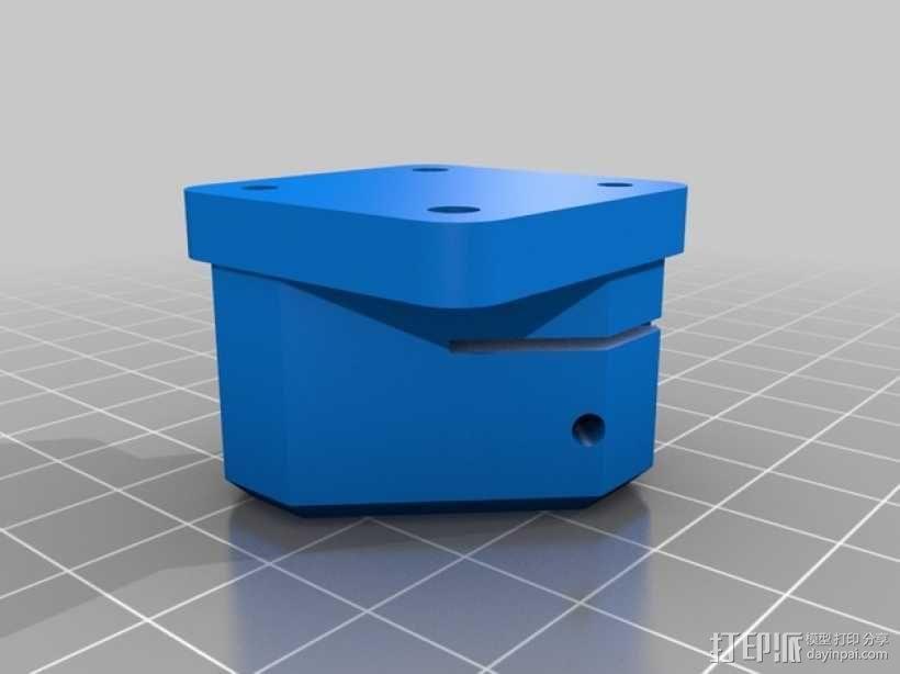 丝杆轴台 3D模型  图2