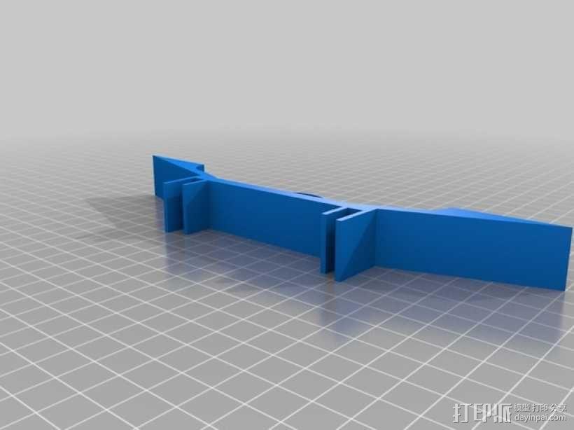 延伸支架 延伸支撑腿 3D模型  图2