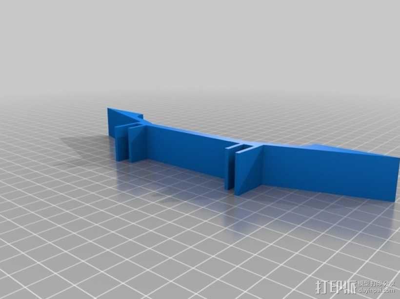延伸支架 延伸支撑腿 3D模型  图1