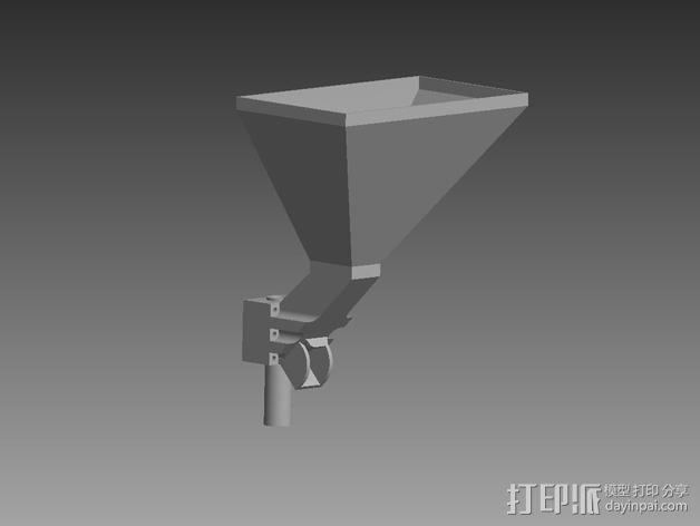 垂直漏斗 3D模型  图1