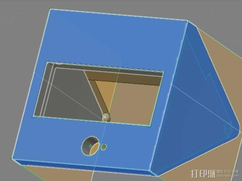 打印机控制器显示屏外壳 3D模型  图1