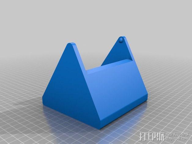打印机控制器显示屏外壳 3D模型  图2