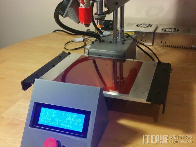 打印机控制器显示屏外壳 3D模型  图5