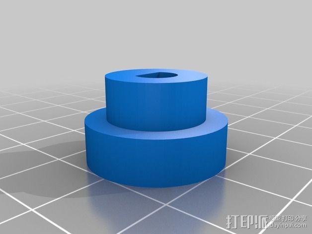 打印机控制器显示屏外壳 3D模型  图4