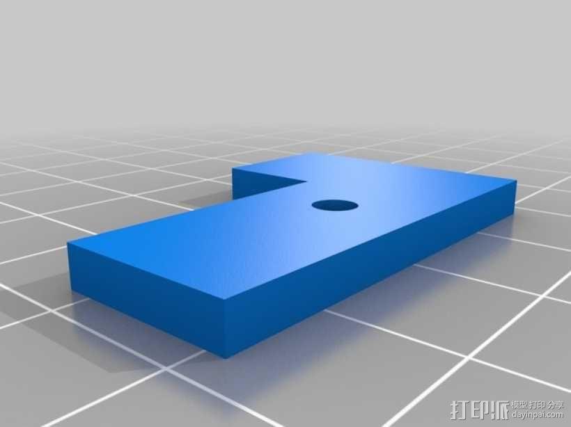 MK8挤出机模块 3D模型  图2