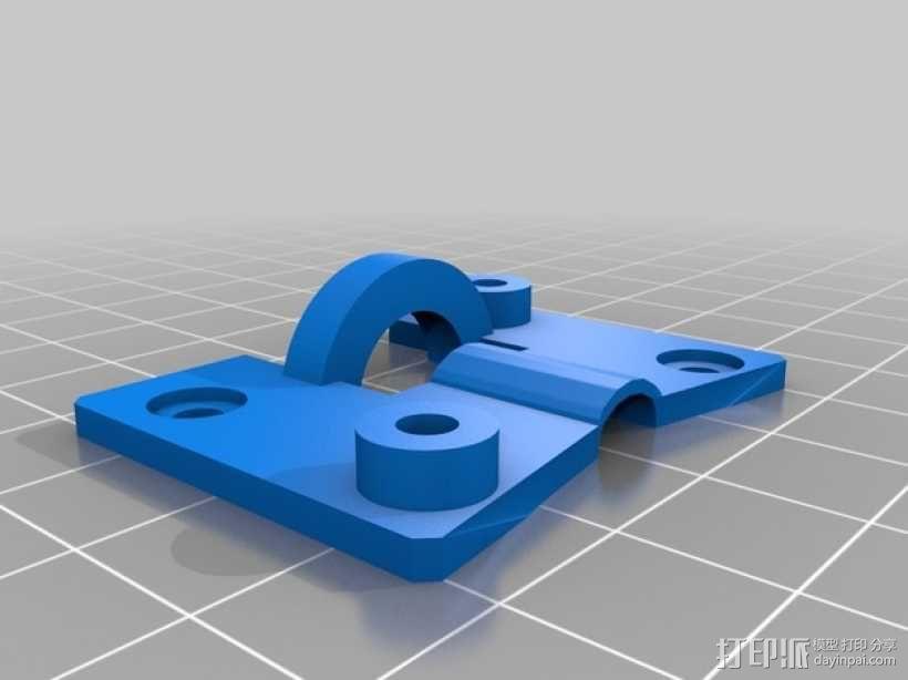 MK8挤出机模块 3D模型  图3