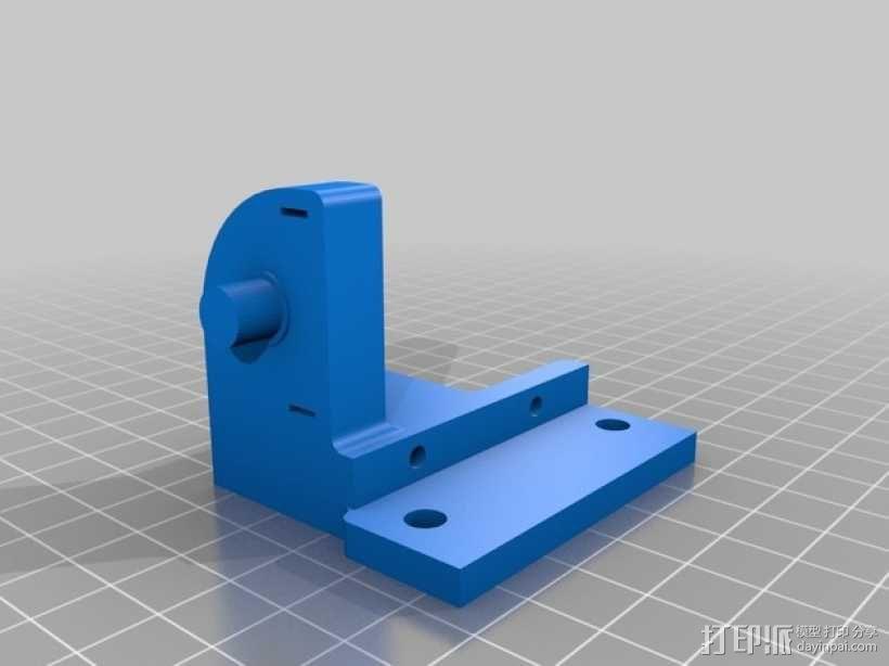 平衡锤支架 3D模型  图2