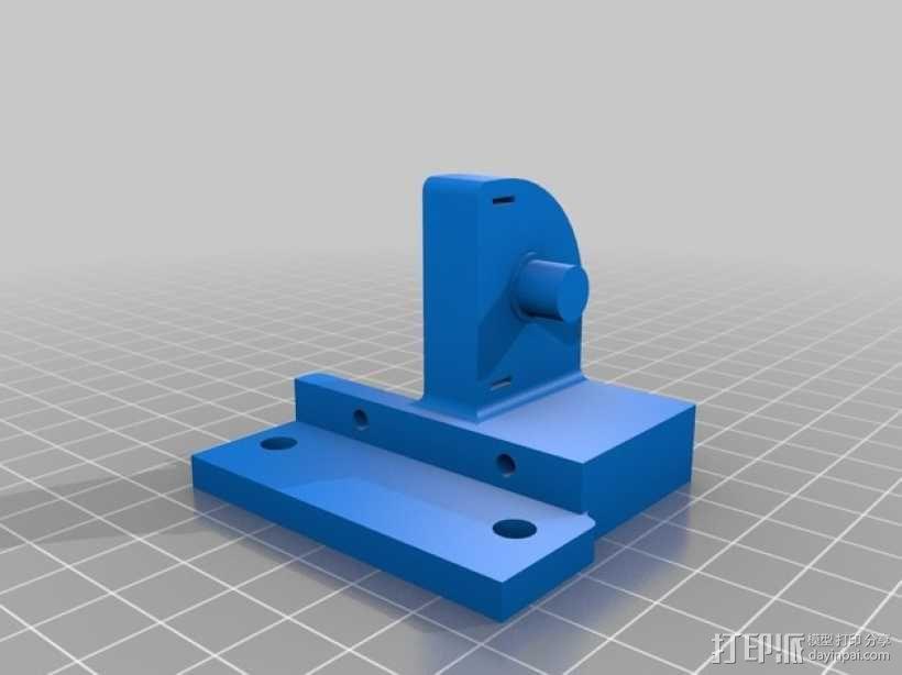 平衡锤支架 3D模型  图3
