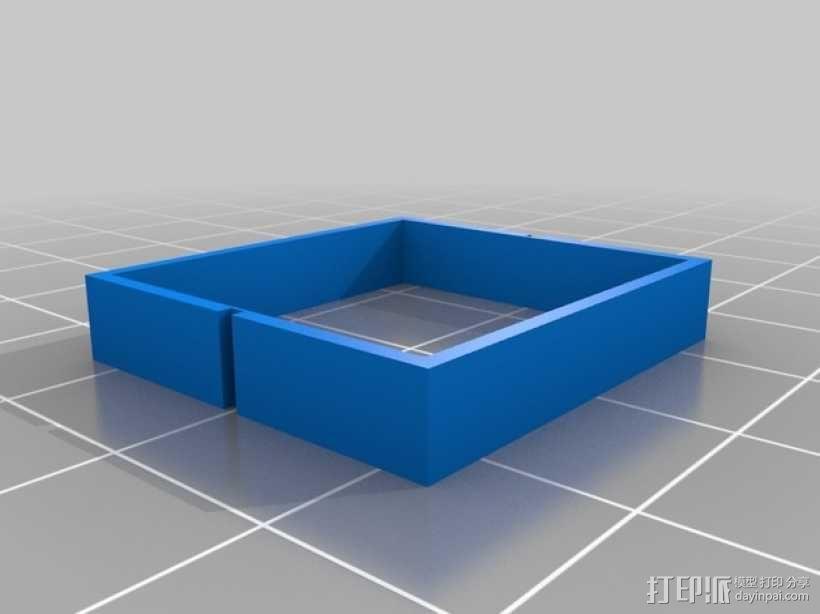 平衡锤支架 3D模型  图4