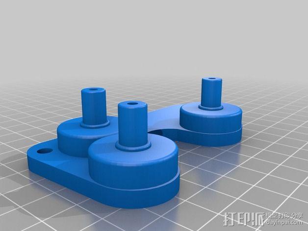 皮带夹  皮带固定器 3D模型  图3