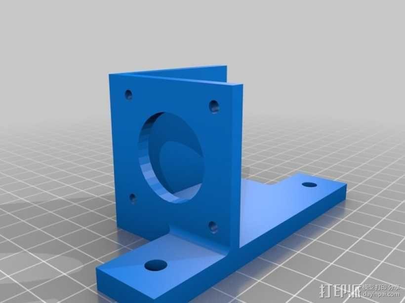 马达支架 3D模型  图1