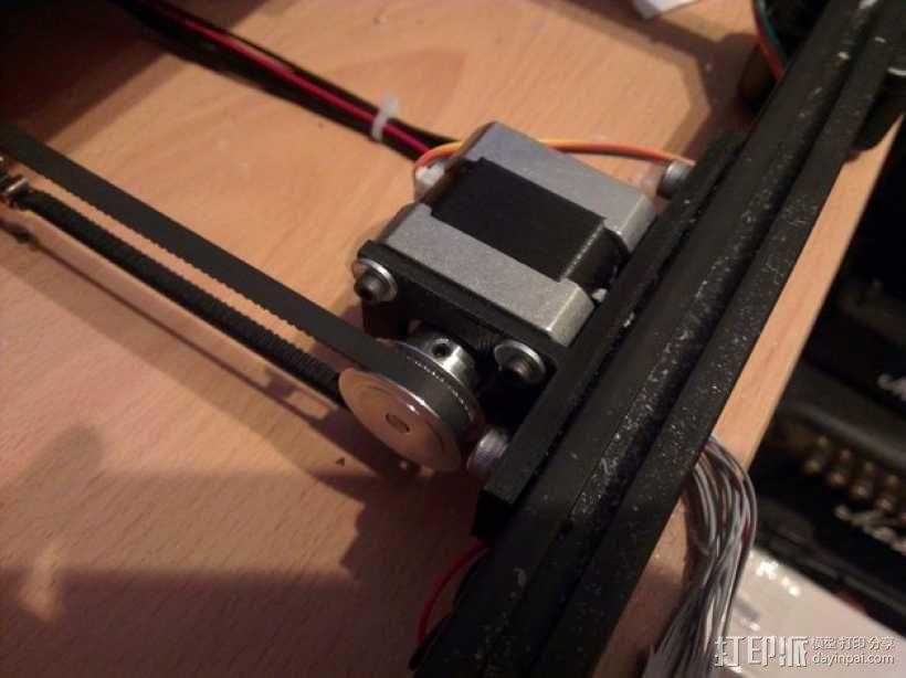 马达支架 3D模型  图2