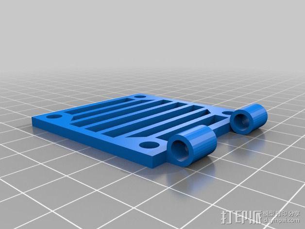 铰链风扇架 风扇罩 3D模型  图2