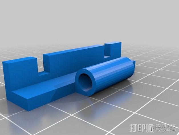 铰链风扇架 风扇罩 3D模型  图3