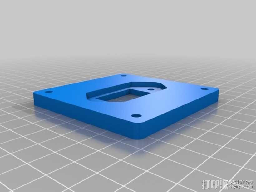 电源插座面板 3D模型  图1