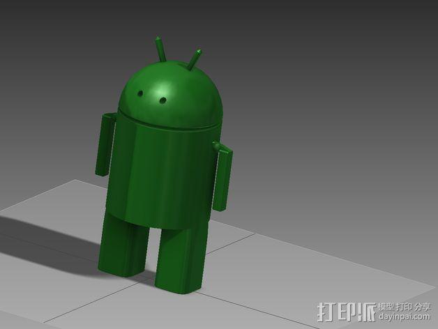 安仔 安卓机器人 3D模型  图1