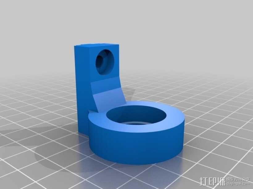 轴承支架 3D模型  图4