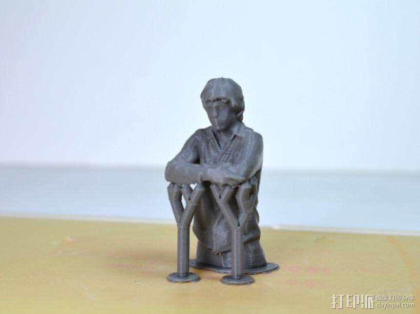 人物半身雕塑 3D模型  图1