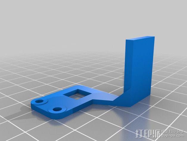 J-head喷嘴支架 3D模型  图2