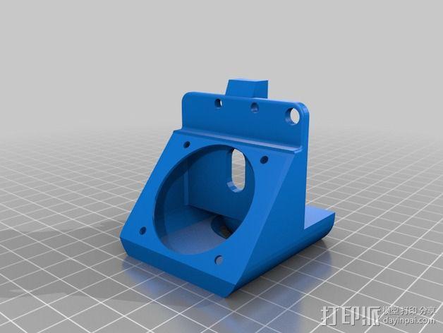 J-head喷嘴支架 3D模型  图4