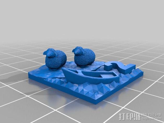 绵羊 港口  3D模型  图2
