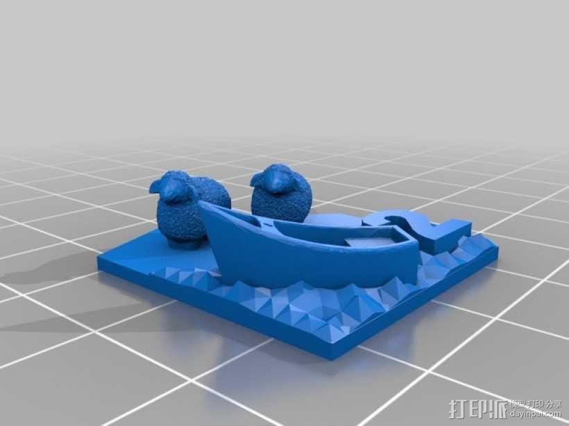 绵羊 港口  3D模型  图1