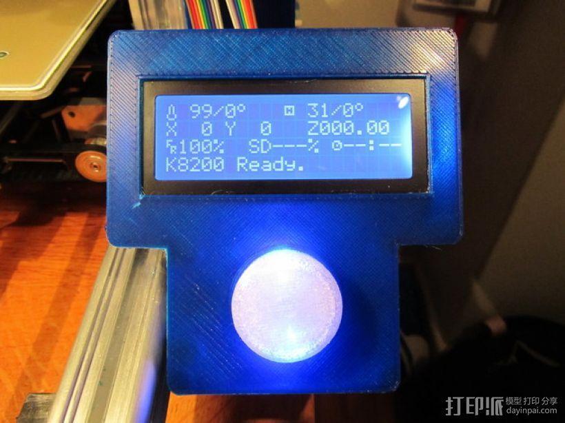 有着蓝色背景灯按钮的独立K8200 3D模型  图1