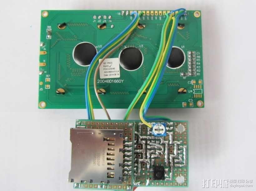 有着蓝色背景灯按钮的独立K8200 3D模型  图4