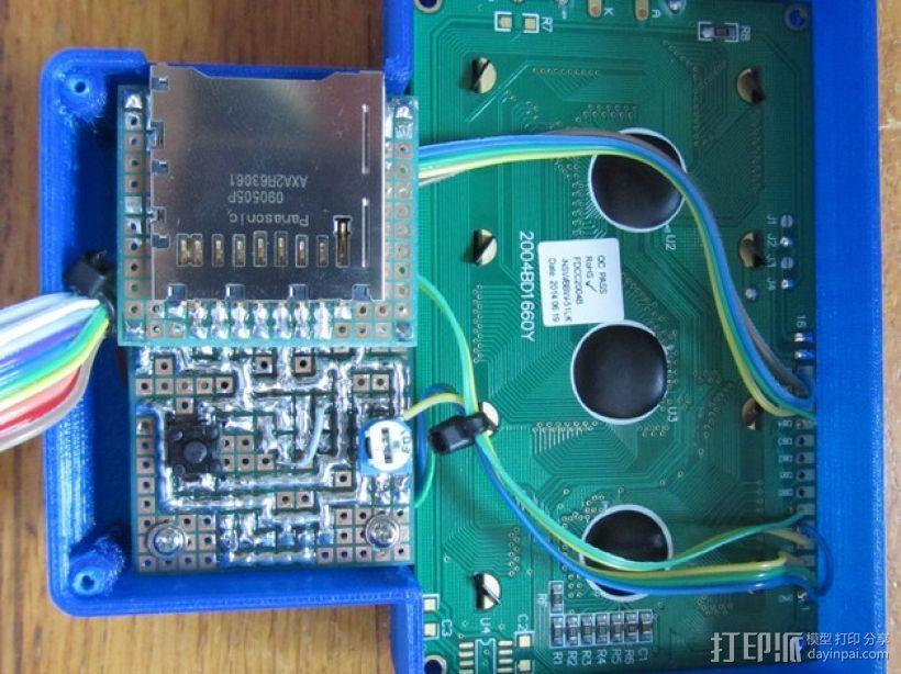 有着蓝色背景灯按钮的独立K8200 3D模型  图7