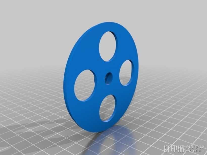 内嵌式线轴架 3D模型  图2