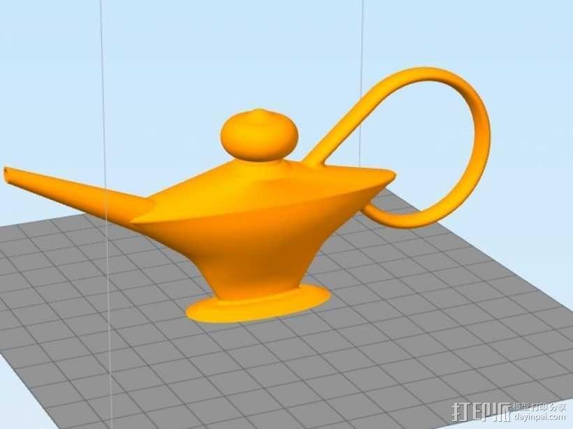 阿拉丁神灯 3D模型  图1