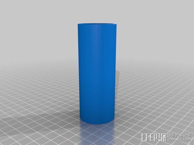 线轴支撑架 3D模型  图2