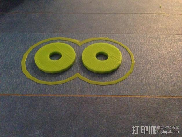 透明丙烯酸线轴架 3D模型  图5