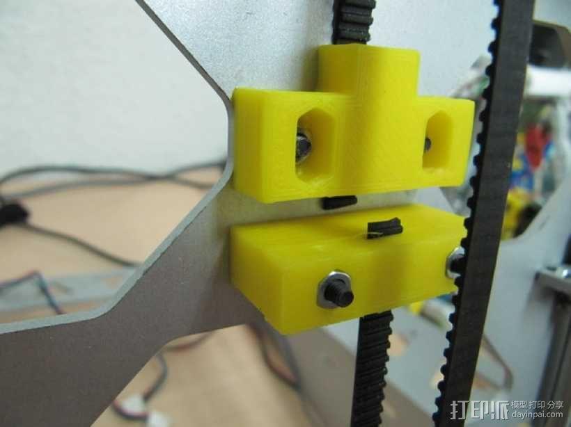 打印机Y轴皮带固定器 3D模型  图1