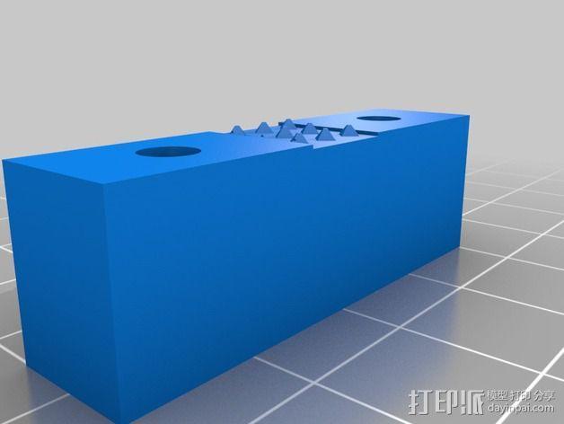 打印机Y轴皮带固定器 3D模型  图2