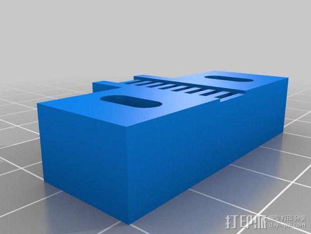 打印机Y轴皮带固定器 3D模型  图3
