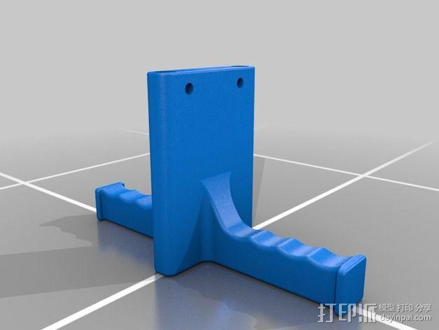 双线轴支架 3D模型  图2