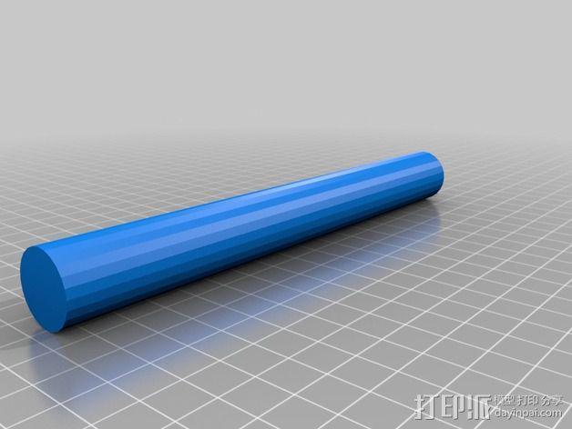 线轴卷支撑架 3D模型  图2