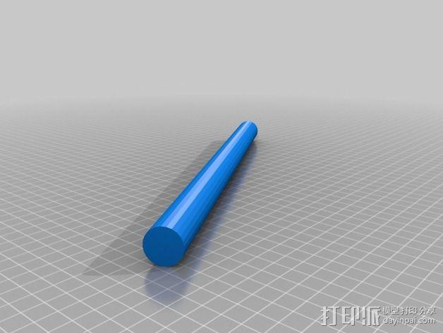 线轴卷支撑架 3D模型  图4