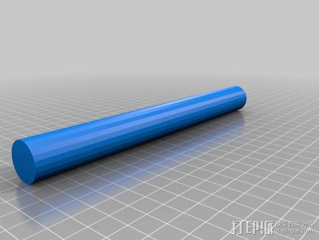 线轴卷支撑架 3D模型  图3