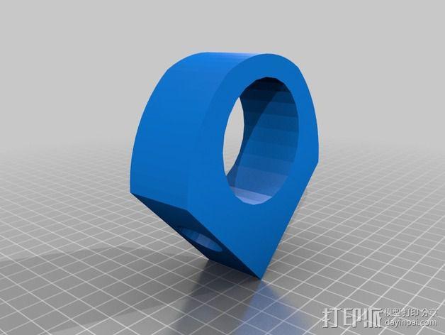 线轴卷支撑架 3D模型  图6