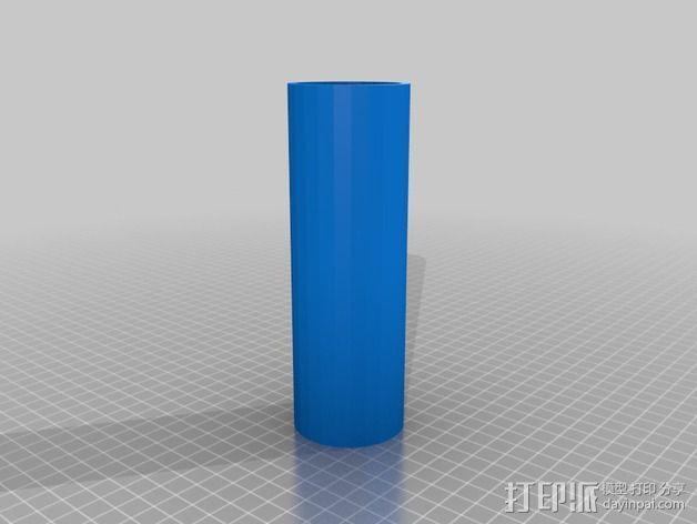 线轴卷支撑架 3D模型  图5