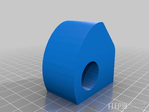 线轴卷支撑架 3D模型  图7