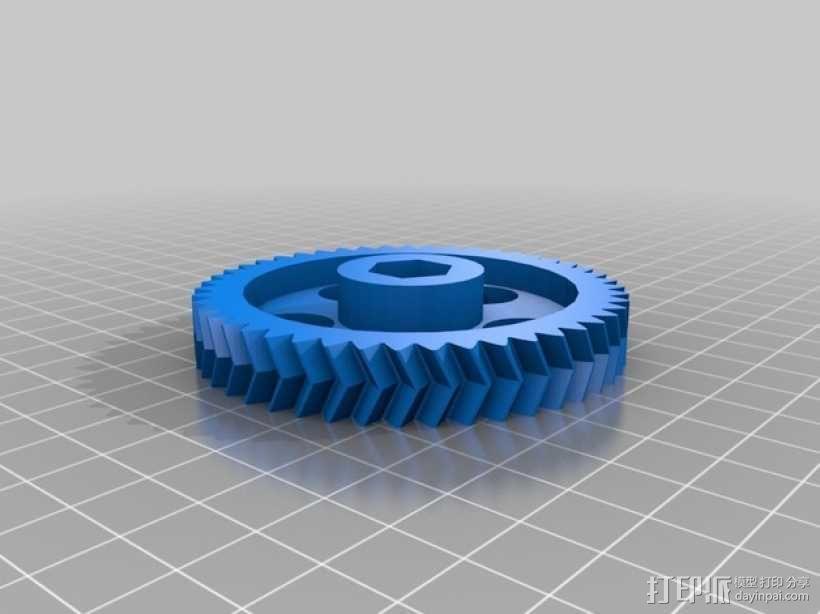 滚铣齿轮 3D模型  图1