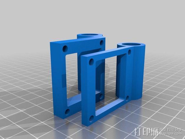 喷头座 3D模型  图2