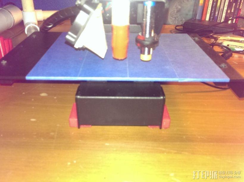 打印机角托 支撑脚 3D模型  图3